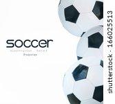 concept of the soccer | Shutterstock . vector #166025513