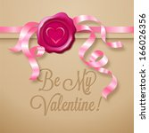be my valentine   greeting card ...   Shutterstock .eps vector #166026356