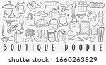 boutique shopping doodle line... | Shutterstock .eps vector #1660263829