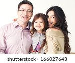 portrait of a happy family...   Shutterstock . vector #166027643