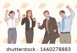 a business people in suits are... | Shutterstock .eps vector #1660278883