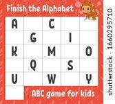 finish the alphabet. abc game... | Shutterstock .eps vector #1660295710