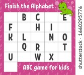 finish the alphabet. abc game... | Shutterstock .eps vector #1660295776