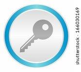 key  neon light metallic button ... | Shutterstock .eps vector #166030169