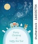 Christmas Illustration Of Sant...