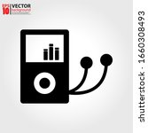 mp3 player icon vector in flat...