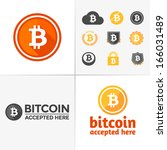 set of various bitcoin symbols... | Shutterstock .eps vector #166031489