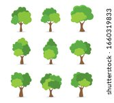 green tree fertile a variety of ... | Shutterstock .eps vector #1660319833