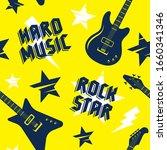 rock music seamless pattern.... | Shutterstock .eps vector #1660341346