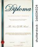 certificate template   Shutterstock .eps vector #166034324