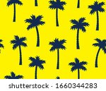seamless pattern with palm... | Shutterstock .eps vector #1660344283