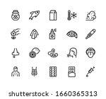 allergy line icons. sneeze ... | Shutterstock .eps vector #1660365313