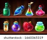 potion bottles. game alchemist... | Shutterstock .eps vector #1660365319