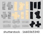 adhesive tape. realistic sticky ... | Shutterstock .eps vector #1660365340