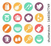 cooking icon set. kitchen tools ...   Shutterstock .eps vector #1660367749