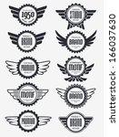 retro vintage badge vector... | Shutterstock .eps vector #166037630
