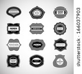 labels in retro style isolated... | Shutterstock .eps vector #166037903
