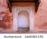 Delicate Carved White Archway...
