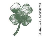 grunge clover four leaf... | Shutterstock .eps vector #1660382233
