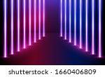 glowing neon lines direction in ... | Shutterstock .eps vector #1660406809