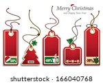 christmas price tags | Shutterstock .eps vector #166040768