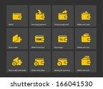 wallet icons. vector...   Shutterstock .eps vector #166041530