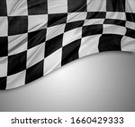 Checkered Black And White Flag...