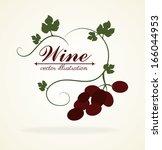 wine design over white ... | Shutterstock .eps vector #166044953
