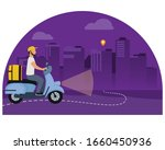 night food delivery vector... | Shutterstock .eps vector #1660450936