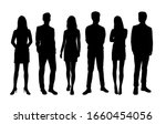 vector silhouettes of  men and... | Shutterstock .eps vector #1660454056