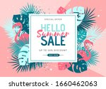 summer sale poster with tropic... | Shutterstock .eps vector #1660462063