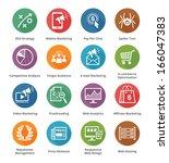 seo   internet marketing icons  ... | Shutterstock .eps vector #166047383