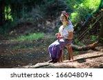 mae hong son  thailand  ... | Shutterstock . vector #166048094