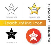 exclusive job icon. linear... | Shutterstock .eps vector #1660492543