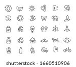 set of linear ecology icons.... | Shutterstock .eps vector #1660510906