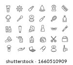 set of linear skin care icons.... | Shutterstock .eps vector #1660510909