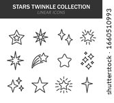 stars twinkle collection linear ... | Shutterstock .eps vector #1660510993