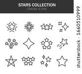 stars collection linear icons...