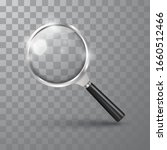 realistic magnifying glass on a ... | Shutterstock .eps vector #1660512466