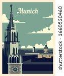 Retro Poster Munich City...