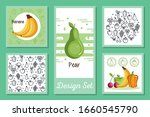 designs set of fruits and... | Shutterstock .eps vector #1660545790