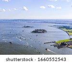 Boats On Hudson River Near...