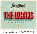 vintage touristic greeting card ... | Shutterstock .eps vector #1660555819