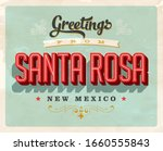 vintage touristic greeting card ... | Shutterstock .eps vector #1660555843