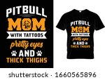 pitbull mom with tattoos pretty ...   Shutterstock .eps vector #1660565896