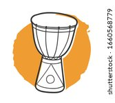 Djembe Music Traditional Doodle....
