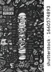 burger menu design template for ... | Shutterstock .eps vector #1660574893