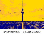 Berlin Skyline With A View Of...