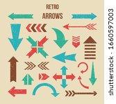 retro arrow set   set of retro... | Shutterstock .eps vector #1660597003