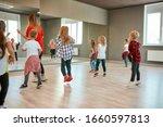 Group Of Active Children...